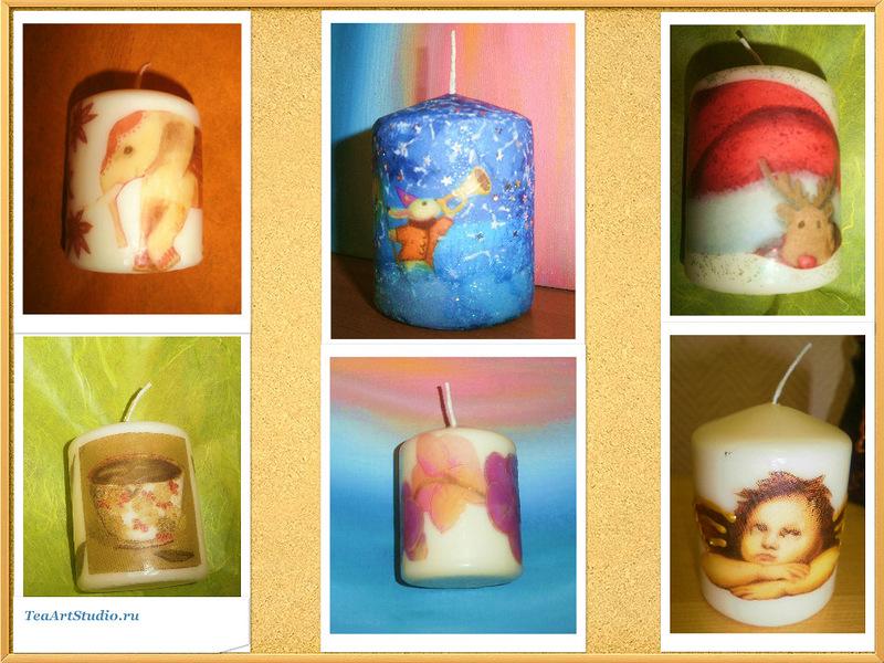 декупаж декорирование и роспись свечей мастер класс