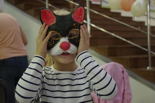 Роспись масок. Кот