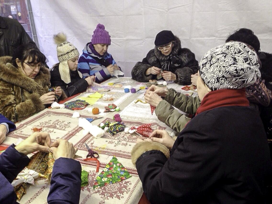 мастер класс в русском стиле - народные куклы