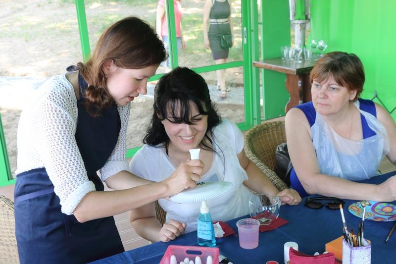 выездные мастер-классы на летнем корпоративе ГРЧЦ 2014
