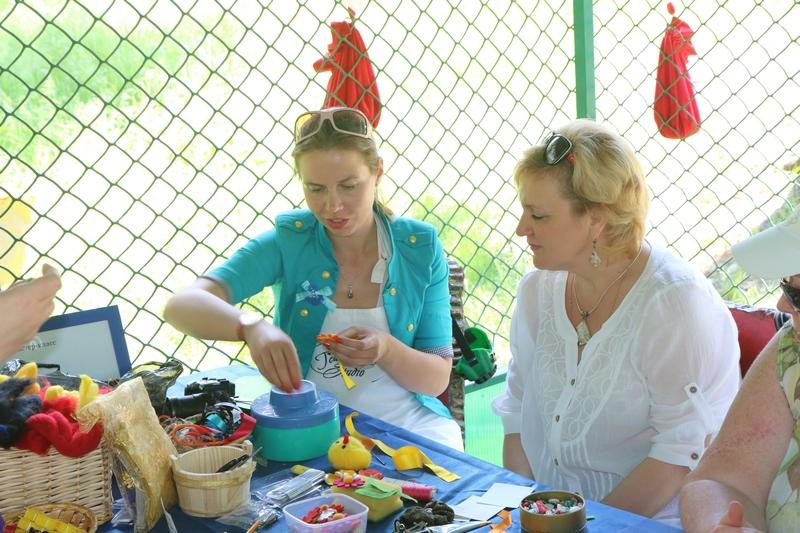 выездные творческие мастер-классы на летнем корпоративе ГРЧЦ 2014