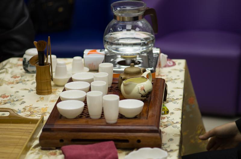 китайская чайная церемония в новом книжном