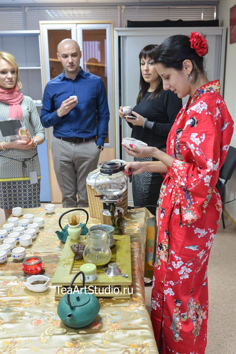 проведение чайной церемонии