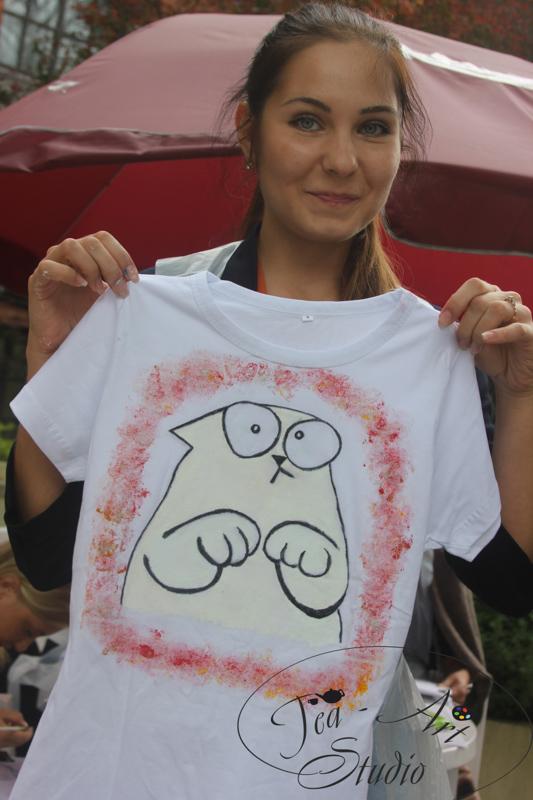 роспись футболок на мероприятии