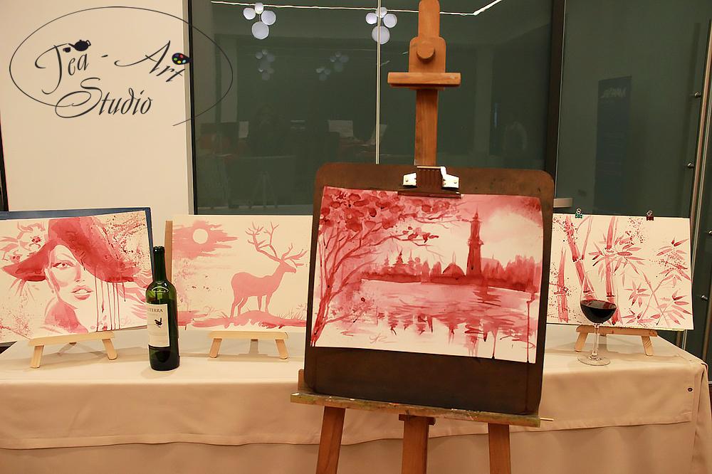картины вином - мастер класс в Москве