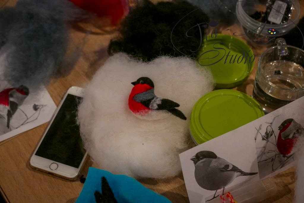 валяние из шерсти мастер-класс птица
