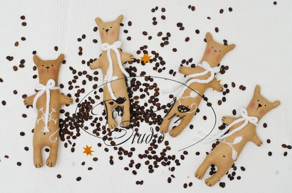 мастер класс игрушки - чердачные кофейные мишки