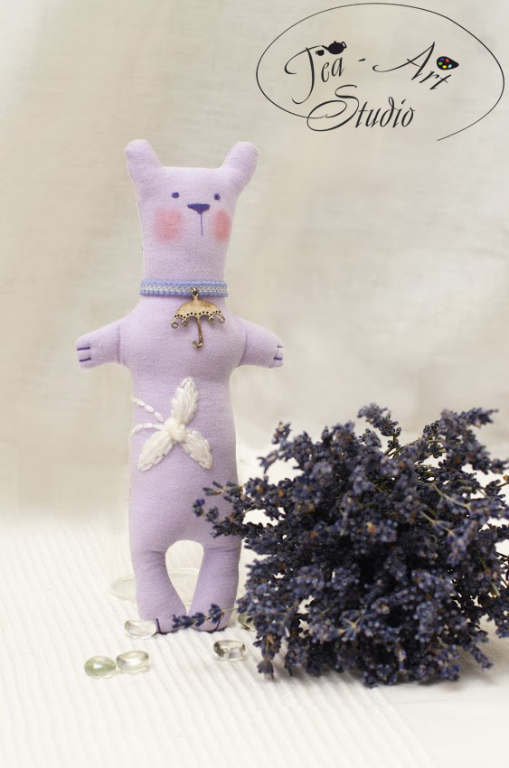 чердачная игрушка мастер класс - лавандовый мишка