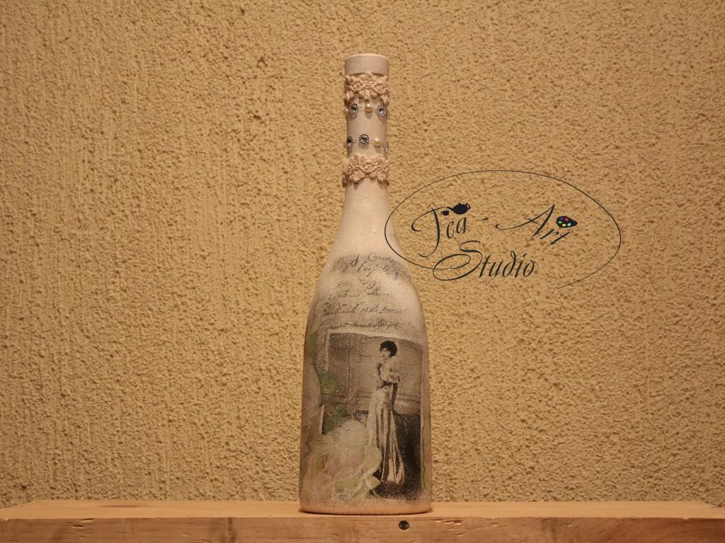 декупаж бутылки своими руками мастер класс для начинающих