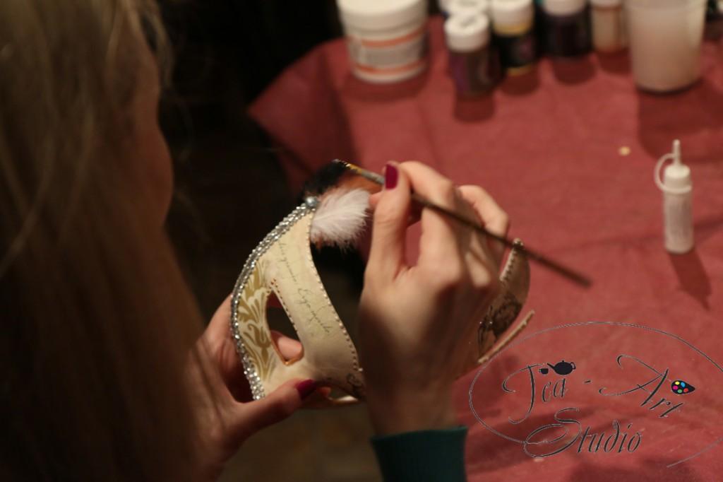 мастер-класс по росписи венецианских масок