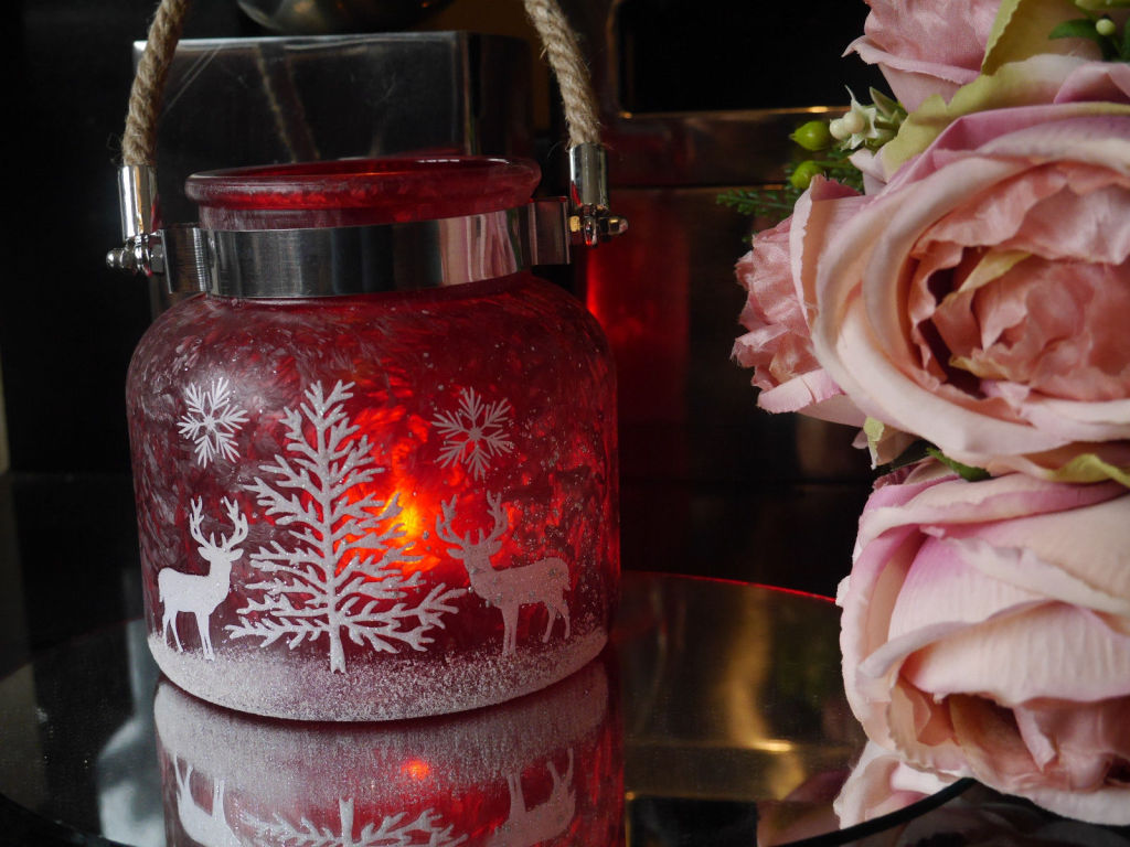 Christmas-Red-Frosted-Glass-Glitter-Candle-Jar-Tea