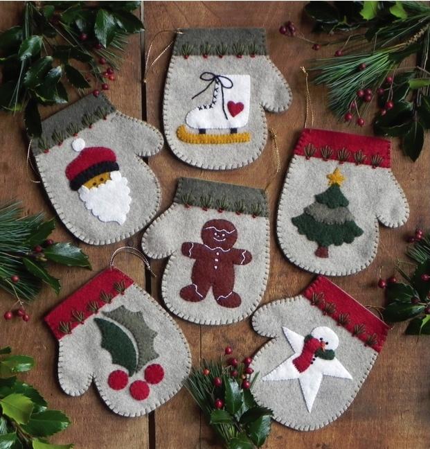 warm hands felt ornaments kit