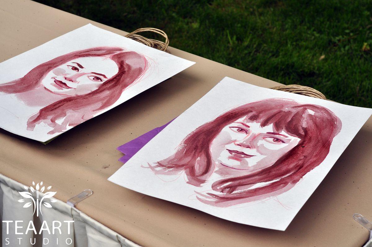 Портреты вином в welcome-зоне